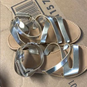 Worn once girls sandals size 8